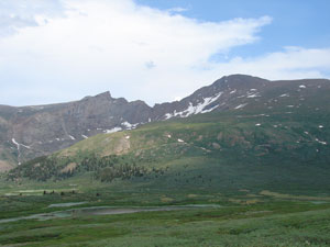 Bierstatd and Sawtooth as seen from Guanella Pass