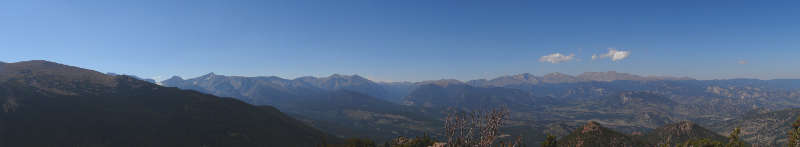 Rocky Mountain National Park as seen from the summit of Estes Cone